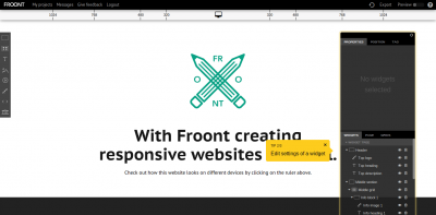 Froont - RWD application